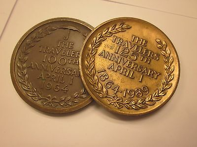 THE TRAVELERS 100th & 125th ANNIVERSARY TOKEN COINS COLLECTIBLES