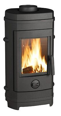 Contemporary Wood Burning Stove Log Burner Room Heater Real Fire