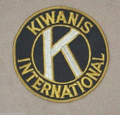 """Kiwanis International Patch - vintage - 5"""" x 5""""  - cheesecloth back"""