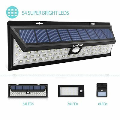 54 LED Motion Sensor Solar Power Wireless Garden Security Light Wall Light