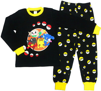 NEW Sz 6-12 KIDS PYJAMAS POKEMON GO WINTER COTTON BOYS SLEEPWEAR PJS NIGHTIES PJ