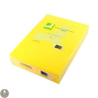 Connect Giallo Office Paper A4 500 Sheets Bright Yellow Nuovo