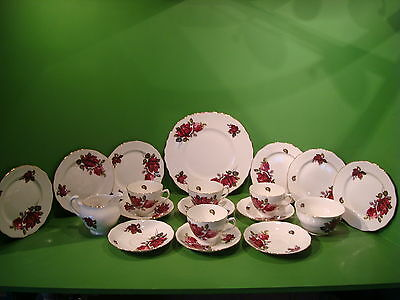 Queen Anne Vintage Bone China 19Pce Teaset