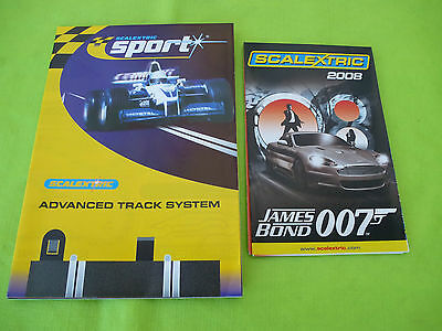 Scalextric *NEW* 2008 Mini Catalogue (James Bond on Cover) +Advance Track Plans