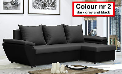 Corner Sofa Bed JACOB - with storage - Brand New - Washable Farbic - Delivery