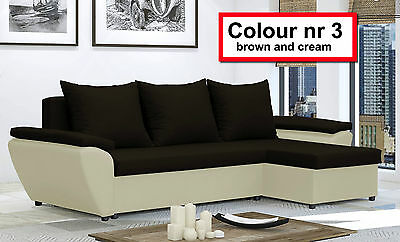 NewCorner Sofa Bed JACOB - with storage - Lots color- Washable Farbic - Delivery