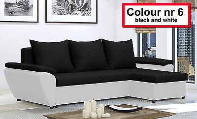 Corner Sofa Bed JACOB - storage- New - Lots color- Washable Farbic - Delivery