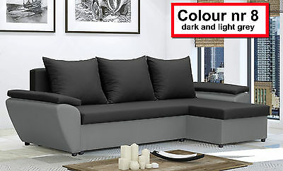 Corner Sofa Bed JACOB - storage- New - Lots color - Washable Farbic - Delivery