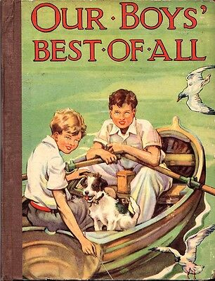 Vintage 'Our Boys Best Of All' English Boys Adventure Annual 1952 Hb