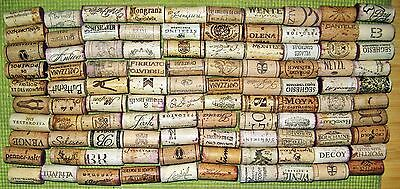 100 Natural Used Wine Corks. Free Shipping. No Synthetic, No Champagne.