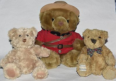 Royal Canadian Mounted Police Bear, Connoisseur Bear, Waitrose Bear Job lot