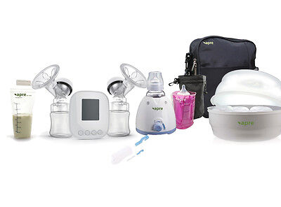 Apre 2in1 Electric Baby Bottle Warmer Steriliser TWIN Breast Pump KIT & Medela