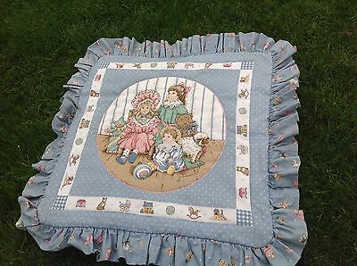 Victorian Doll Antique Teddy Bear Cushion Cover Children's Old Toys Nursery Room