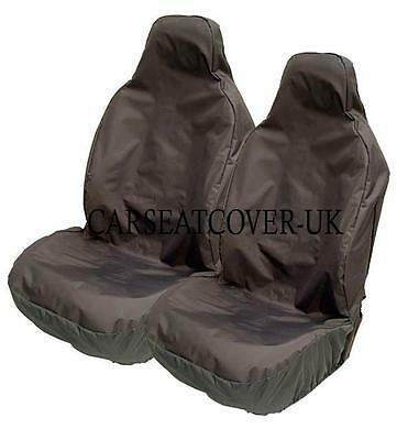 Audi A4 S-Line Heavy Duty Black Waterproof Car Seat Covers - 2 x Fronts