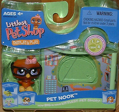 Littlest Pet Shop WISE OWL LIBRARY NOOK 354 RETIRED