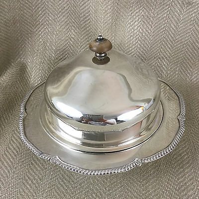 Antique Muffin Food Dome Cover Dish Cloche Silver Plated