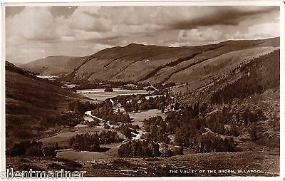 The Valley of the Broom, Ullapool, sepia RP postcard, unposted