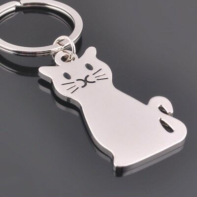 New Silver Alloy Cat Keyring Key Perfect Valentines Gift Handbag Charm