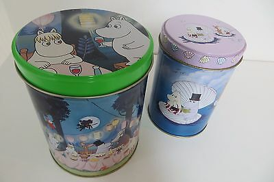 Moomin Metal Tins, Storage, Children's Room, Collectible, TV Characters Cute