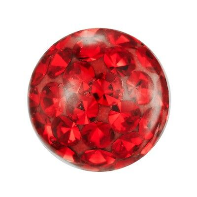 Piercing Replacement Ball, Multi Crystal Stones Light Siam Red | 4, 5 and 6 mm