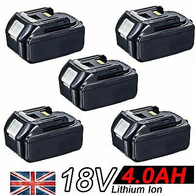 5x 4.0AH 18V Battery For Makita BL1840 BL1830 BL1815 LXT Lithium Ion Cordless