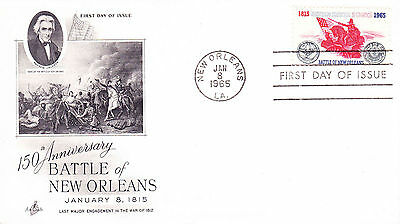 1965 USA 150th Anniversary Battle of New Orleans FDC