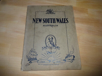 1938 New South Wales Australia Handbook for Toutrist Investors Traders with Map