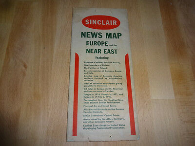 Sinclair Oil News Map of Europe & The Near East