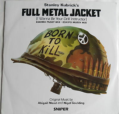 "FULL METAL JACKET DRILL INSTRUCTOR 12"" VINYL SINGLE  EX+++ (NEAR MINT)  Kubrick"