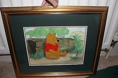33 Pooh on Log Original production Cel