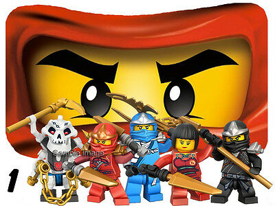 """LEGO NINJAGO wall stickers (choice of 41 images in 3 sizes) """"PLUS DISCOUNTS """""""