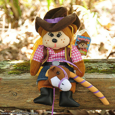 NEW Annie the Cowgirl Bear - Beanie Kid Collectable