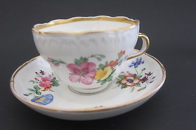 KPM Berlin Porcelain Cup and Saucer B5 Antique 19th C