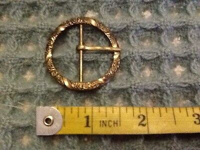 vintage art deco Gold Tone Filigree Round belt buckle 1920s 1930s