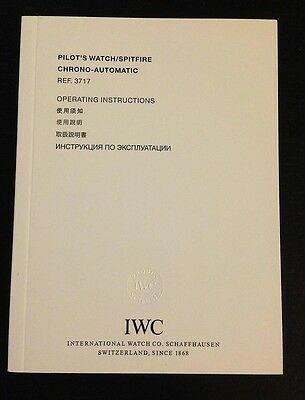 IWC Bedienungsanleitung Pilot`s Watch/Spitfire Chrono-Automatic Ref. 3717 Asian
