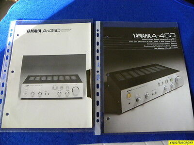 Yamaha A-450 Original brochure & Yamaha Reference Guide New