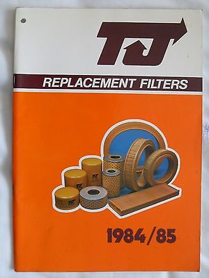 TJ FILTERS  1984/85  REPLACEMENT FILTERS  CATALOGUE     (Ref 77)