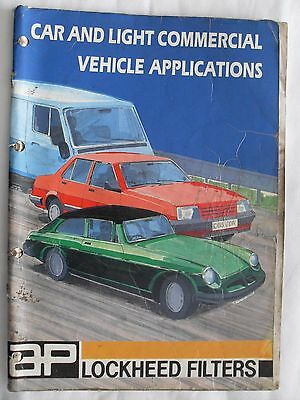 AP FILTERS CAR AND LIGHT VAN VEHICLE APPLICATION CATALOGUE - (Ref 45)