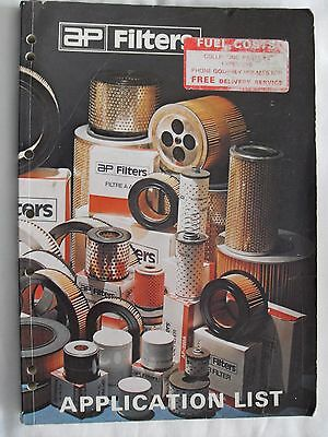 AP FILTERS VEHICLE APPLICATION CATALOGUE PLUS SUPPLEMENT -  (Ref 46)