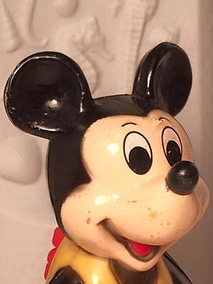 Vintage Hard plastic wind up Mickey Mouse toy rare
