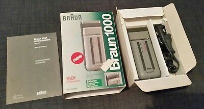 BRAUN PLATINUM COATED 1000 Men's Electric Rechargeable Shaver 1501 hair trimmer
