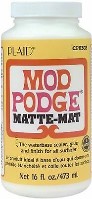 Mod Podge Waterbase Sealer Glue and Finish (16-Ounce) CS11302 Matte Finish