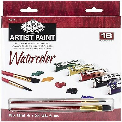 Royal Brush and Langnickel Watercolor Paint 18-Piece 18 Pieces