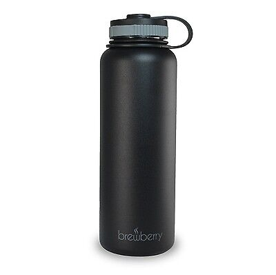 Brewberry Insulated Stainless Steel Sports Bottle and Travel Mug for Hot and ...