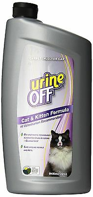 URINE OFF Odor and Stain Remover for Cat and Kitten 32-Ounce Injector Cap