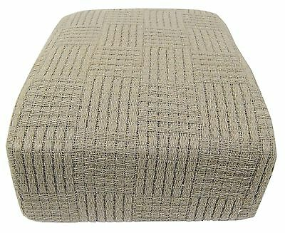 100% Cotton Thermal Blanket Queen Taupe