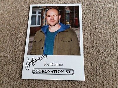 Joe Duttine Itv Coronation Street Pre Printed Signed Card - Mint Condition