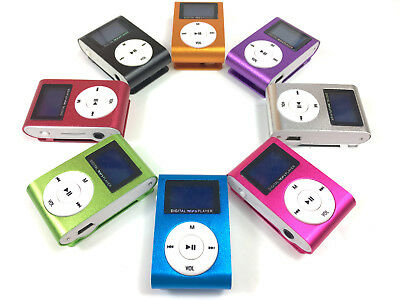 MP3 Player LCD Display Clip Funktion tragbar 7 Farben AUX Micro SD bis 32GB WOW!