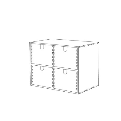 New IKEA MOPPE Mini chest of drawers, birch plywood 002.274.33