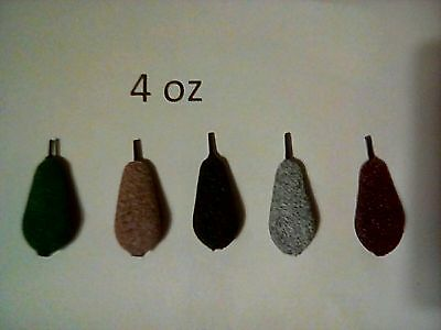 5 x 4 oz tournament inline carp fishing lead weights